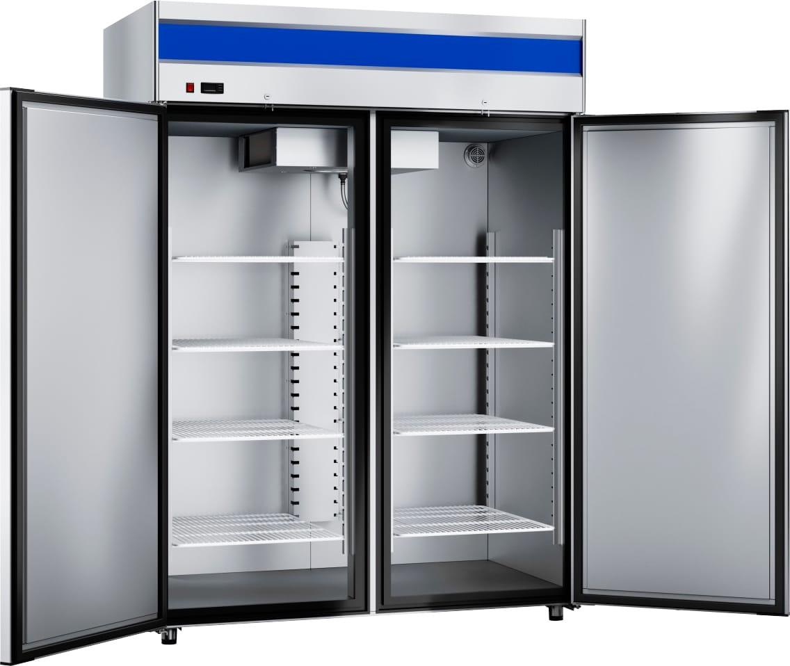 Морозильный шкаф ABATШХн-1,4-01нерж. (верхнийагрегат) - 1