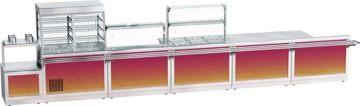 Прилавок для столовых приборов ABAT ПСПХ-70Х - 7