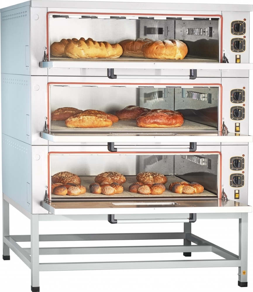 Подовый пекарский шкаф ABAT ЭШП-3-01КП (320 °C) - 2