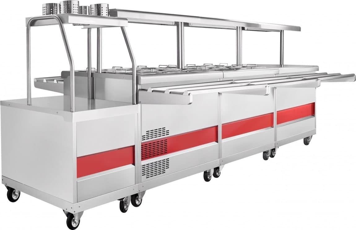 Холодильный прилавок ABAT ПВВ(Н)-70ПМ-НШ - 7