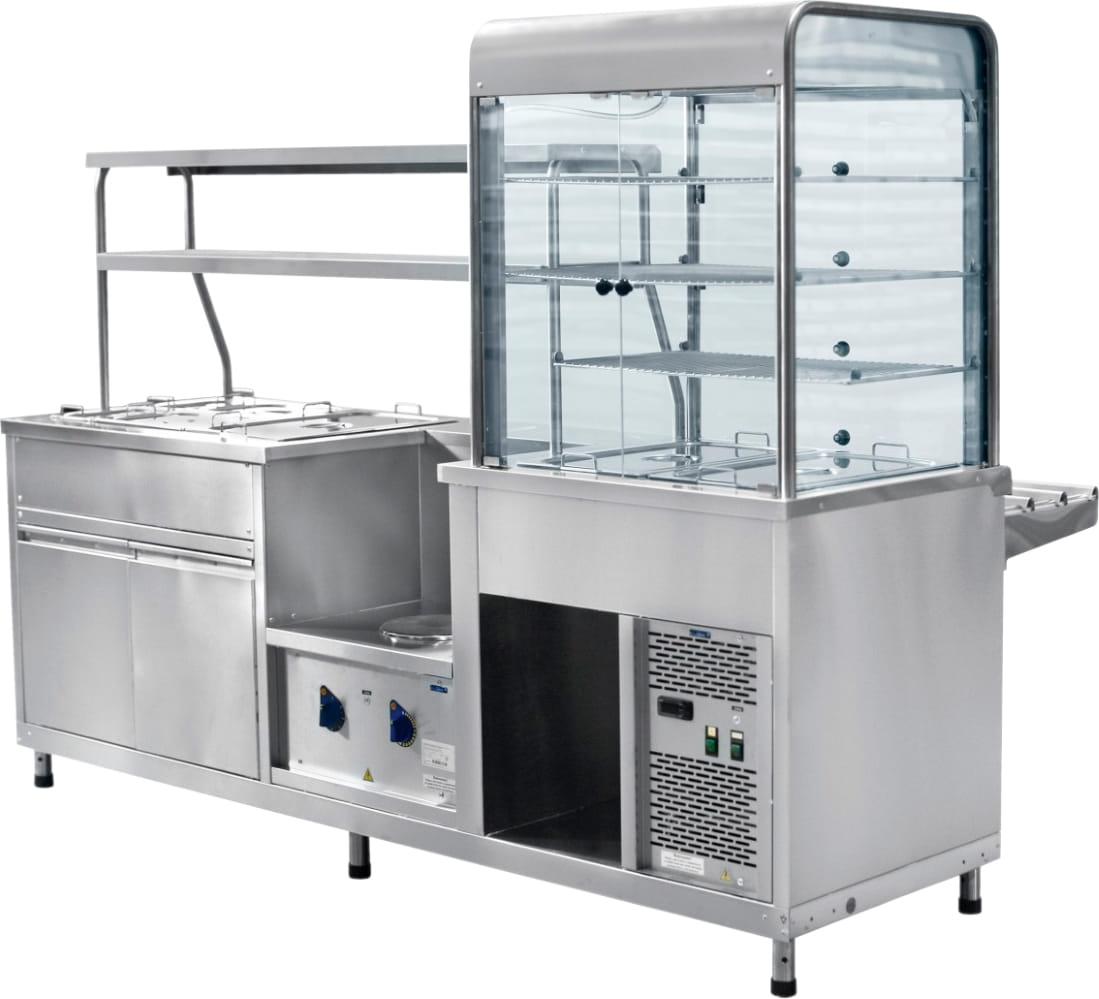 Холодильный мармитный прилавок-витрина ABATПВХМ-70КМУ кашированный - 2