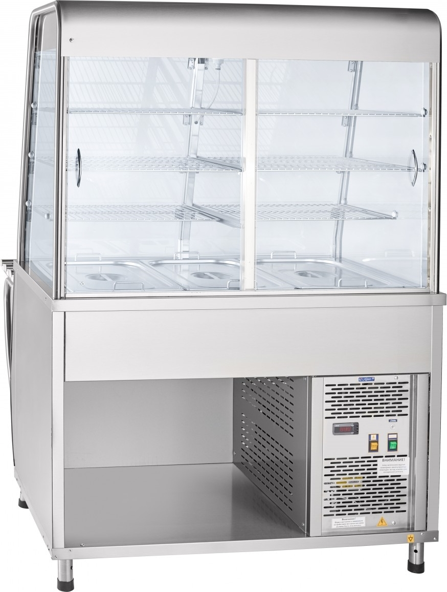 Холодильная витрина-прилавок ABATПВВ(Н)-70Т-С-НШ - 1