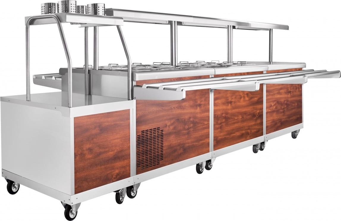Прилавок для столовых приборов ABAT ПСП-70ПМ - 3